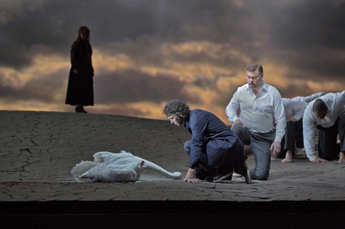Image: The swan incident in a Met production of 'Parsifal'