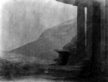 Image: Adolphe Appia's design for 'Parsifal' act three, scene one
