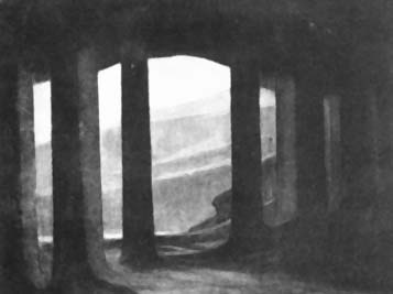 Image: Adolphe Appia's design for 'Parsifal' act one, scene one