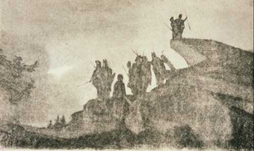 Image: Adolphe Appia's design for 'Die Walküre' act three