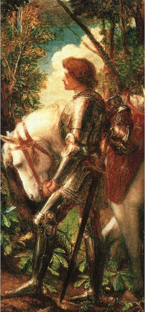 Image: Right: Sir Galahad, by G.F. Watts
