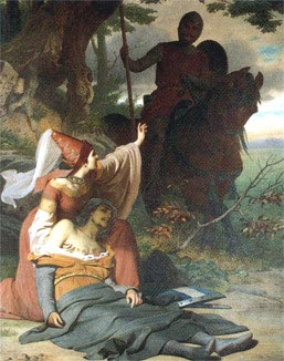 Image: Gawain meets a wounded knight