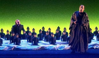 Parsifal act 3 in the recent Geneva production (Vogt, Dohmen)