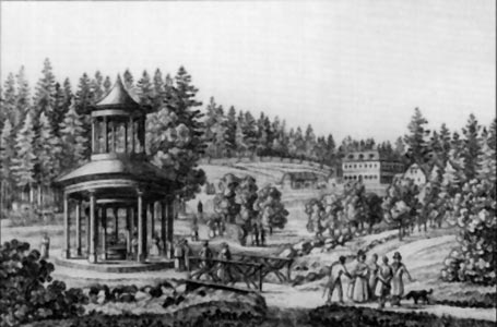 Image: Marienbad, the Forest Well in 1840.