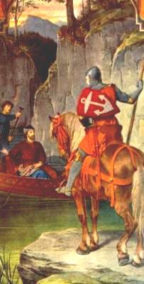 Image: Parzival (or Peredur) meets the Fisher King