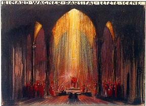 Image: design by Alfred Roller for the final scene of Parsifal