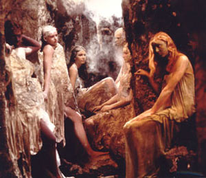 Image: The flower maidens in Syberberg's Parsifal film.