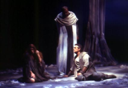 Image: Gurnemanz, Kundry and Parsifal in the recent Washington production